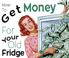 Get Money For Your Old Fridge Front