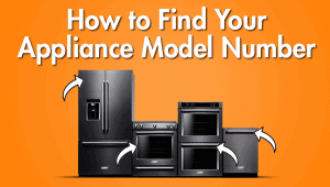how to find your appliance model number