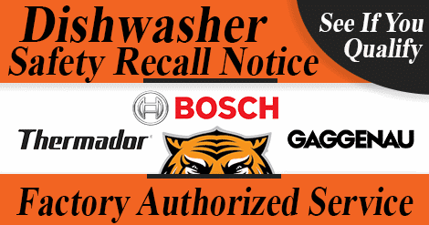 Bosch Dishwasher recall blog