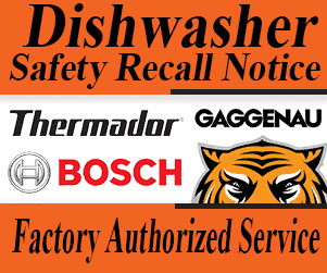 Bosch Dishwasher recall