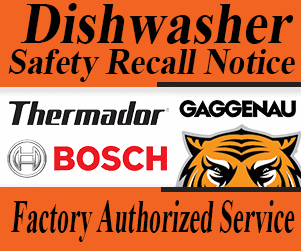 Bosch Dishwasher recall