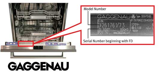 gaggenau dishwasher recalls (1)