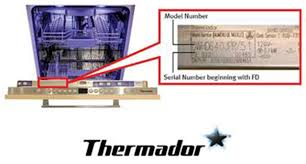 thermador dishwasher recalls