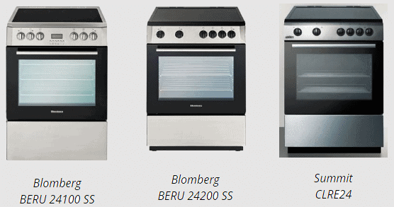 Blomberg And Summit Electric Range Recall
