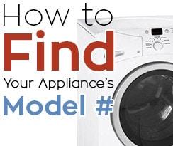 find appliance model number