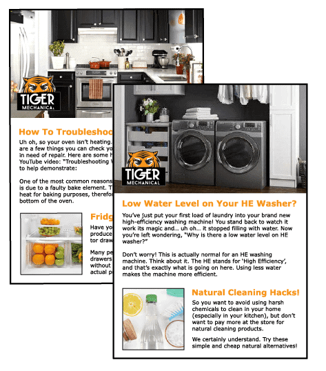 tiger appliance repair newsletter