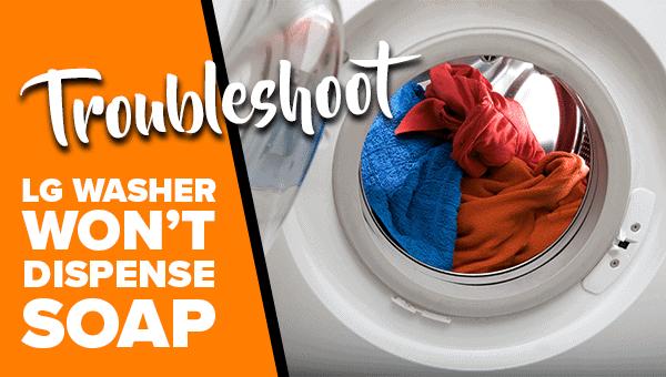 LG washer detergent dispenser stuck