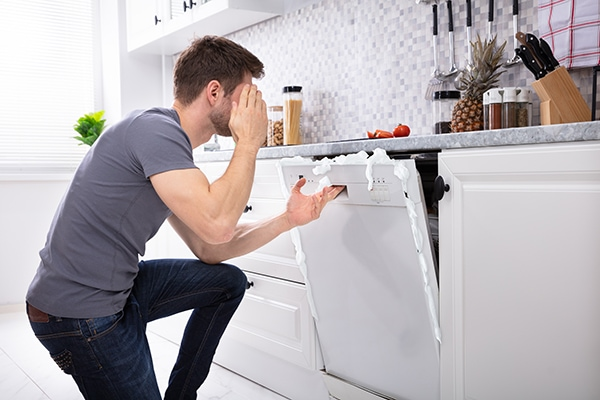 dishwasher has standing water after cycle